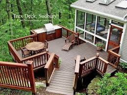 The Backyard Trex Patio Deck With Built In Grill Trex Deck To The Backyard