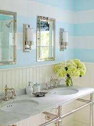 Striped Bathroom Walls Beadboard Bathroom Cabinets Design Ideas