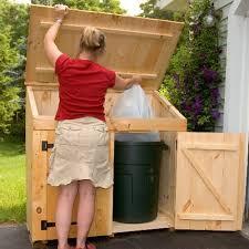 trash can storage shed wood garbage can storage