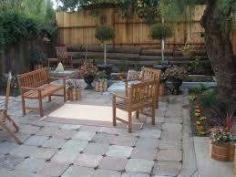 Patio Area Rug Garden Vintage Courtyard Design Alongside Paving Block Floor
