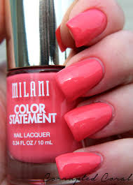 milani cosmetics color statement nail lacquer corrupted coral