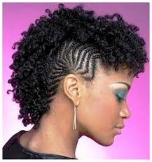 three pictures of natural mohawk hairstyles for black women with