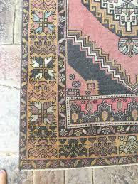 Beachy Rugs Zahra Vintage Wool Oushak Rug Pink Beachy Boheme