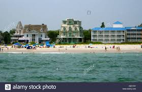 houses on beach avenue in cape may city new jersey photo taken