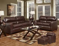 Bonded Leather Loveseat Dark Brown Bonded Leather Modern Loveseat U0026 Sofa Set W Options