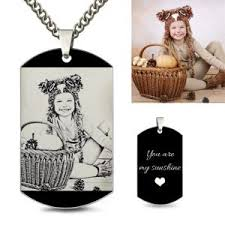 photo engraved dog tags custom engraved dog tags for men