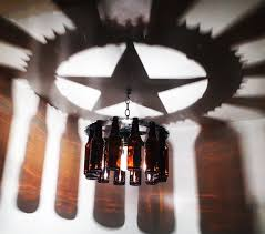 western star home decor texas star light bottle chandelier home and living gift