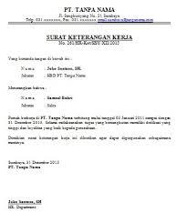 contoh surat pernyataan untuk melamar kerja contoh surat keterangan kerja karyawan cara buat surat