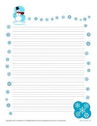 themed paper winter printable lined writing paper