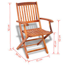 Outdoor Dining Chair Vidaxl Co Uk Vidaxl Outdoor Dining Chair 2 Pcs Acacia Wood