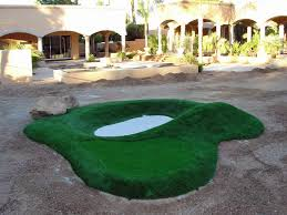 Backyard Putting Green Installation by Artificial Grass Torrance California Putting Green Flags