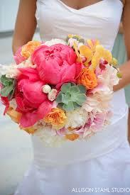 Peonies Bouquet Wedding Wednesday Coral Charm Peonies Flirty Fleurs The