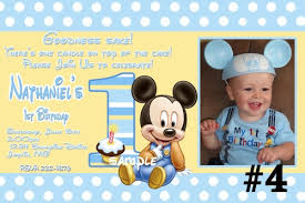 mickey mouse 1st birthday baby mickey mouse custom photo 1st birthday invitation digital file
