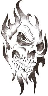 evil clown skull tattoo drawing photo 4 real photo pictures
