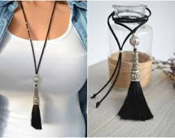 long silver fashion necklace images Tassel necklaces etsy uk jpg