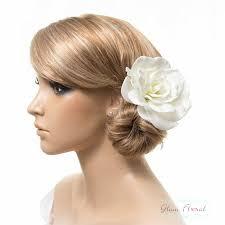 hair corsage gardenia hair clip brooch corsage real touch gardenia