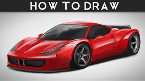 ferrari front drawing how to draw ferrari 458 italia libertywalk lb step by step