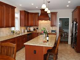 Yellow Kitchen With White Cabinets - granite countertop white cabinets yellow walls backsplash for