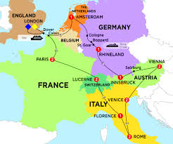 Calais France Map by European Impressions Trafalgar Aus
