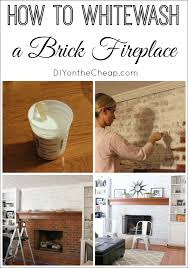 37 best whitewashed images on how to whitewash a brick fireplace erin spain