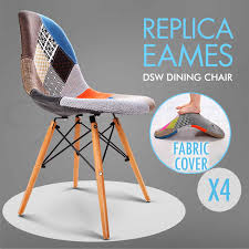 fabric covers for dining chairs 4 x retro replica eames dsw dining chair daw armchair foam padded