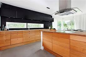 Kitchen Cabinet Frame by Modern Timber Kitchens Black Varnished Wooden Frame Glass Window