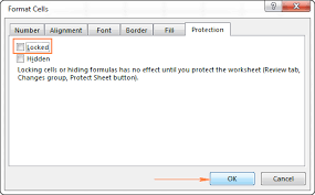 how to lock cells in excel and unlock certain cells on a protected