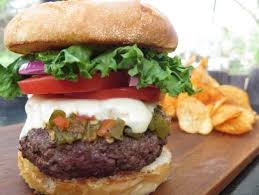 Backyard Burger Hours Best Burger Ever Recipe Alton Brown Food Network