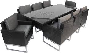 Dark Wicker Patio Furniture by Dining Room Dark Black Rattan With Grey Cuhsion Wicker Dining