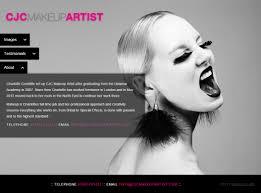 Professional Makeup Artist Websites Cjc Makeup Artist Website
