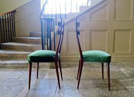 Italian MidCentury Dining Chairs In Velvets Set Of  For - Italian design chairs