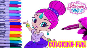 shimmer in a tutu coloring page fun nickelodeon shimmer and shine