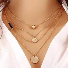 trendy gold chain necklace images Mahak jewelry jewelry sexy trendy 4 layered multi gold chain jpeg
