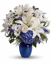 flowers to send beautiful in blue calgary flowers delivery