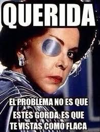 Funny Memes In Spanish - querida el problema no es que este gorda es que vistas como flaca