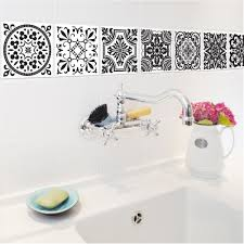 Wall Stickers And Tile Stickers by Aliexpress Com Buy Black And White Retro Tile Tiles Stickers Pvc