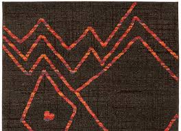 Grey And Orange Rug Dark Brown And Orange Abstract Modern Pattern Area Rug Woodwaves