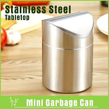 mini desk trash can brushed stainless steel mini garbage can table desk trash rubbish