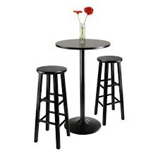 bar stool table set of 2 amazon com winsome obsidian pub table set kitchen dining