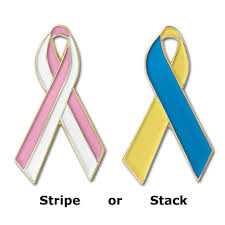 custom awareness ribbons custom multi color awareness ribbon pins sr mc