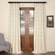illusions silver grey printed cotton curtain drapes