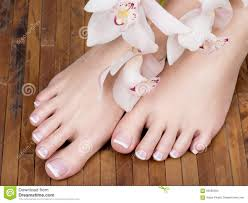 pedicure color nails and women feet stock photo image 42401111