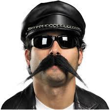 Biker Halloween Costume Fake Biker Mustache Hair Shop Costume Accessories