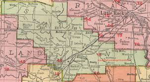 haskell map saline county arkansas 1909 map