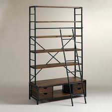 rolling library ladder bookcase ladder shelf kitchen stuff plus