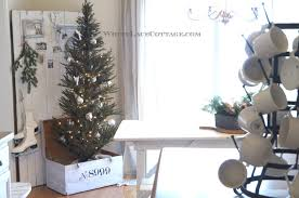 kitchen christmas tree ideas kitchen christmas tree in a trunk white lace cottage