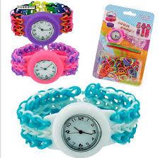 bracelet diy rubber images Fashion diy rubber bands bracelet watch set kids toys loom bands jpg