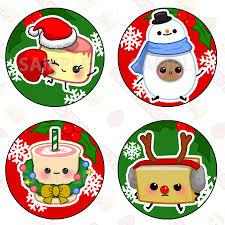 christmas stickers christmas sticker pack tea egg