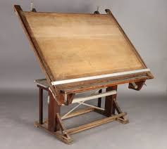 Mechanical Drafting Tables 163 Vintage Mechanical Architects Drafting Table 1900 Lot 163