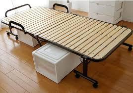 Tatami Platform Bed Frame Foldable Bed Frame Tatami Metal Folding Bed Frame With Caters